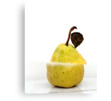 Sliced pear Canvas Print