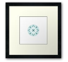 """Spirit of India: Two Crosses - Necklace"" in white and turquoise Framed Print"