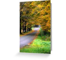 Autumn Journey Landsacpe Greeting Card