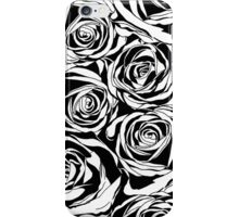 Pattern with black roses flowers.  iPhone Case/Skin