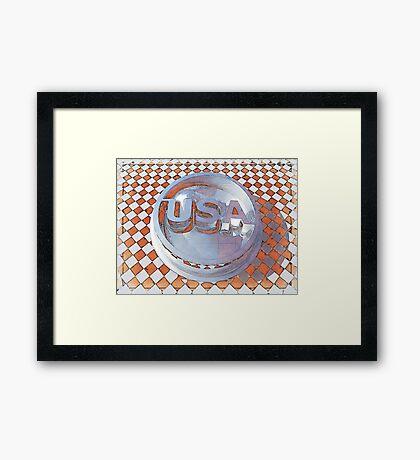 Retro USA Graphic Framed Print