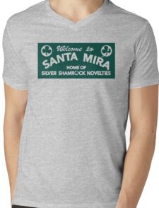 Santa Mira Mens V-Neck T-Shirt
