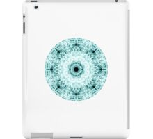 """""""Spirit of India: Two Crosses - Diamond"""" in white and turquoise iPad Case/Skin"""