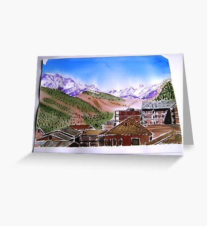 manali India Greeting Card