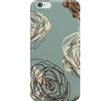 Vintage floral pattern with hand drawn roses iPhone Case/Skin