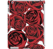 Pattern with red roses iPad Case/Skin