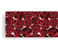 Pattern with red roses Canvas Print