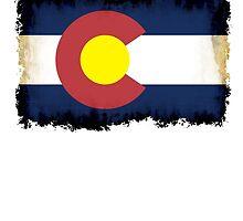 Colorado flag in Grunge by rubina