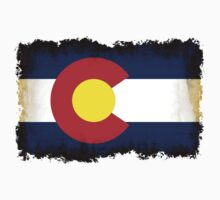 Colorado flag in Grunge T-Shirt