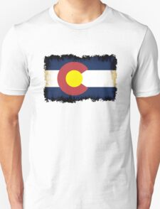 Colorado flag in Grunge Unisex T-Shirt