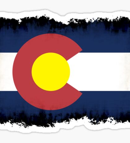 Colorado flag in Grunge Sticker