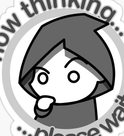 Thinking... - bn&txt Sticker