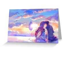 Sword Art Online - Asuna and Kirito Lovers Greeting Card