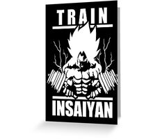 Train Insaiyan - Super Saiyan Goku  Greeting Card