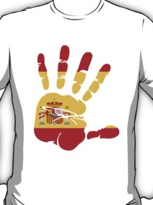 Spain flag in handprint T-Shirt