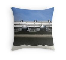 Silvery Roof Throw Pillow