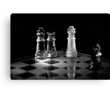 Chess 1: Game over, let's play again! Canvas Print