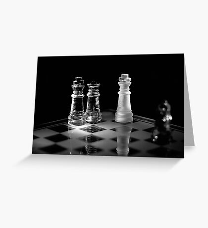 Chess 1: Game over, let's play again! Greeting Card