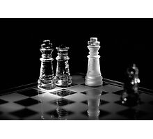 Chess 1: Game over, let's play again! Photographic Print