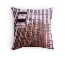 pink window reflection Throw Pillow