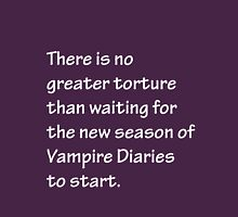 No Greater Torture - Vampire Diaries Womens Fitted T-Shirt