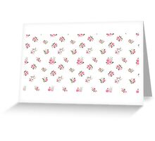 Cute vintage rose flower pattern on white background Greeting Card