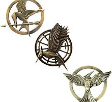 Mockingjay Pins by attackontshirts