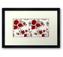 Red roses. Seamless floral background.  Framed Print