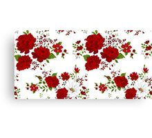 Red roses. Seamless floral background.  Canvas Print