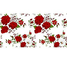 Red roses. Seamless floral background.  Photographic Print