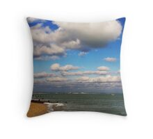 The empty beach Throw Pillow