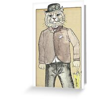 Gentleman Cat Greeting Card