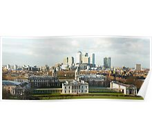 The Queen's House and Canary Wharf Poster