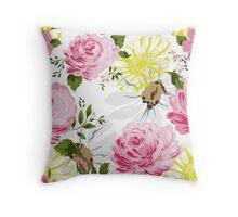 Elegance floral pattern. Spring mood. Throw Pillow