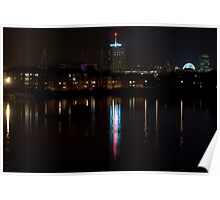Cardiff City by night Poster