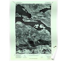 Maine USGS Historical Map The Horns 807227 1977 24000 Poster
