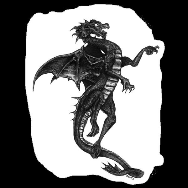 Black Dragon Tee by dimarie
