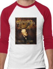Steampunk Jules Verne Men's Baseball ¾ T-Shirt