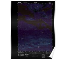 Maine USGS Historical Map The Horns 20110913 TM Inversion Poster