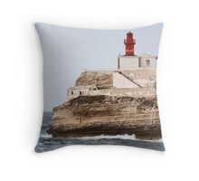 lighthouse in south Corsica Throw Pillow