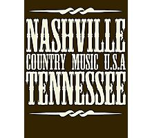 Nashville  Tennessee Country Music Photographic Print