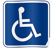 Handicapped Access Sign Poster