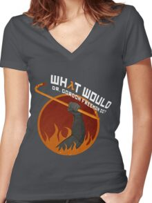 What would Dr. Gordon Freeman do? - Half Life Women's Fitted V-Neck T-Shirt