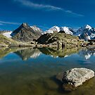 Mountain lake at Fourcla Surlej by peterwey