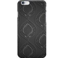 Black luxury ornamental wallpaper iPhone Case/Skin