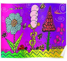 """Spring 2015 in Mo's Garden """" A Bee's life Poster"""