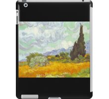 'Cornfield With Cypresses' by Vincent Van Gogh (Reproduction) iPad Case/Skin