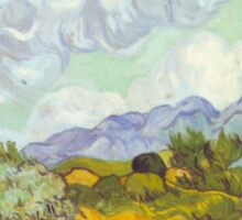 'Cornfield With Cypresses' by Vincent Van Gogh (Reproduction) Sticker