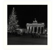 Brandenburg Gate sw Art Print