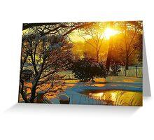 Snowy Winter Sunrise Greeting Card